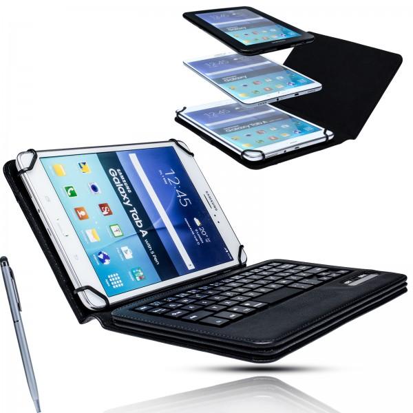 Universal Smart Cover Bluetooth Tastatur Schutz Hülle Keyboard für 7 bis 8 Zoll