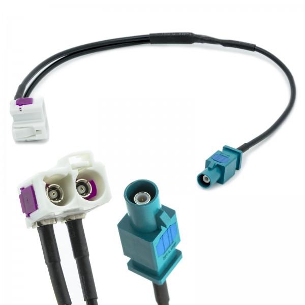 Adapter-Universe FAKRA Doppel Buchse auf 1x Stecker Auto Antennen Verteiler Adapter für Universal