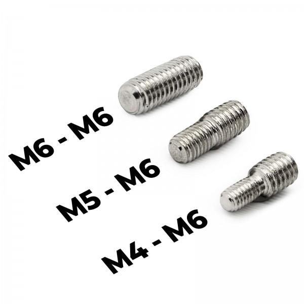 KFZ Gewinde Set M4 M5 M6 Auto Adapter für Fahrzeug Stab Antenne Dachantenne