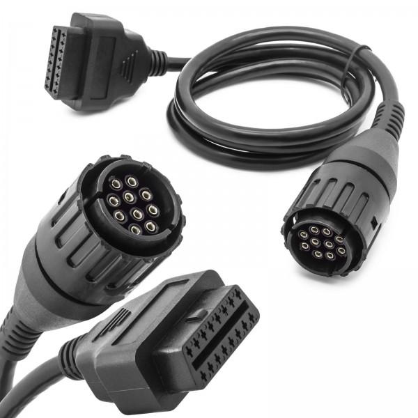 KFZ Auto OBD 2 auf 10 Pol Stecker Diagnose Adapter Kabel für BMW Motorrad