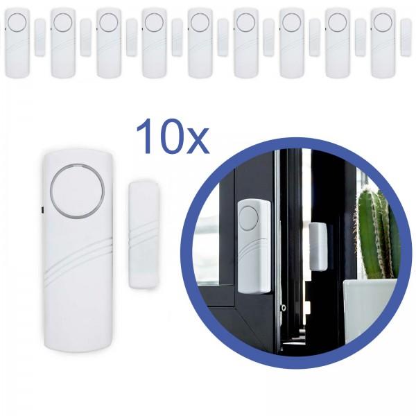 10x Türalarm Fensteralarm Alarmanlage Sirene Alarm Einbruchschutz f Fenster Tür