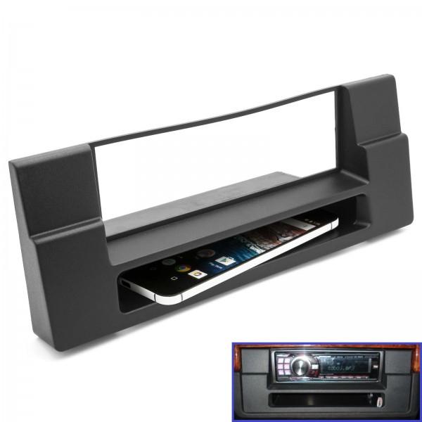 Radio Blende Einbau Rahmen 1 DIN für BMW 5er ( E39 ) BMW X5 ( E53 ) mit Ablagefach