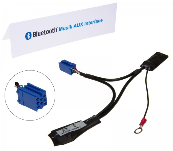 KFZ Auto Radio Bluetooth Modul AUX Interface 8pol Mini ISO für VW Alpha 5 Beta 5
