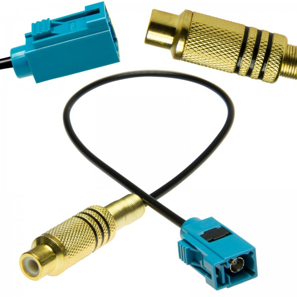 Cinch Fakra Adapter RCA Video Rückfahrkamera für Ford Blaupunkt Mercedes Comand