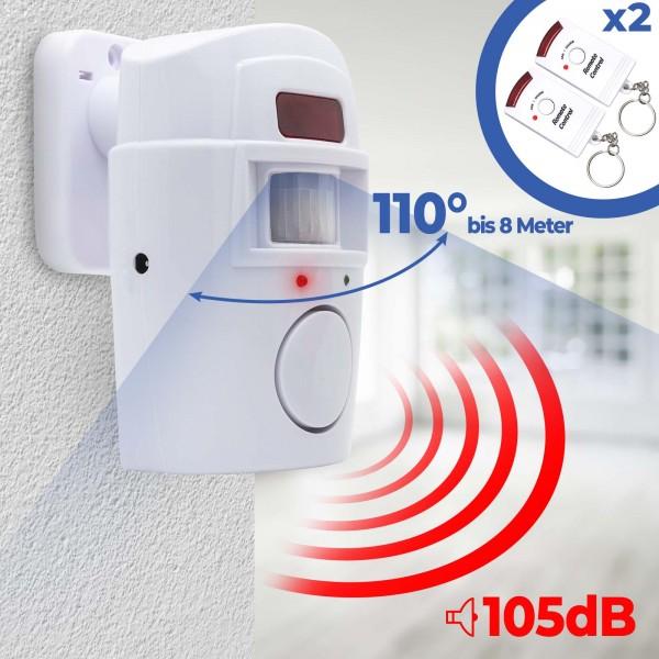 Sensor Alarmanlage Sicherheit System Bewegungsmelder Türalarm Funk Sirene Alarm