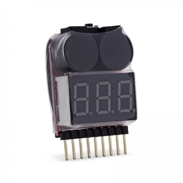 Li Po Alarm Warner 1S - 8S On Board LED Buzzer Voltage Schutz Pieper 1S 2S 3S..