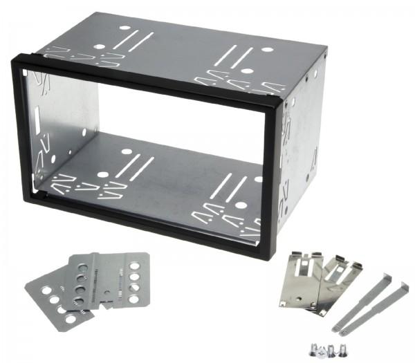 Auto Radio Blende Halterung Schacht Rahmen 100mm Doppel DIN ISO universal Metall