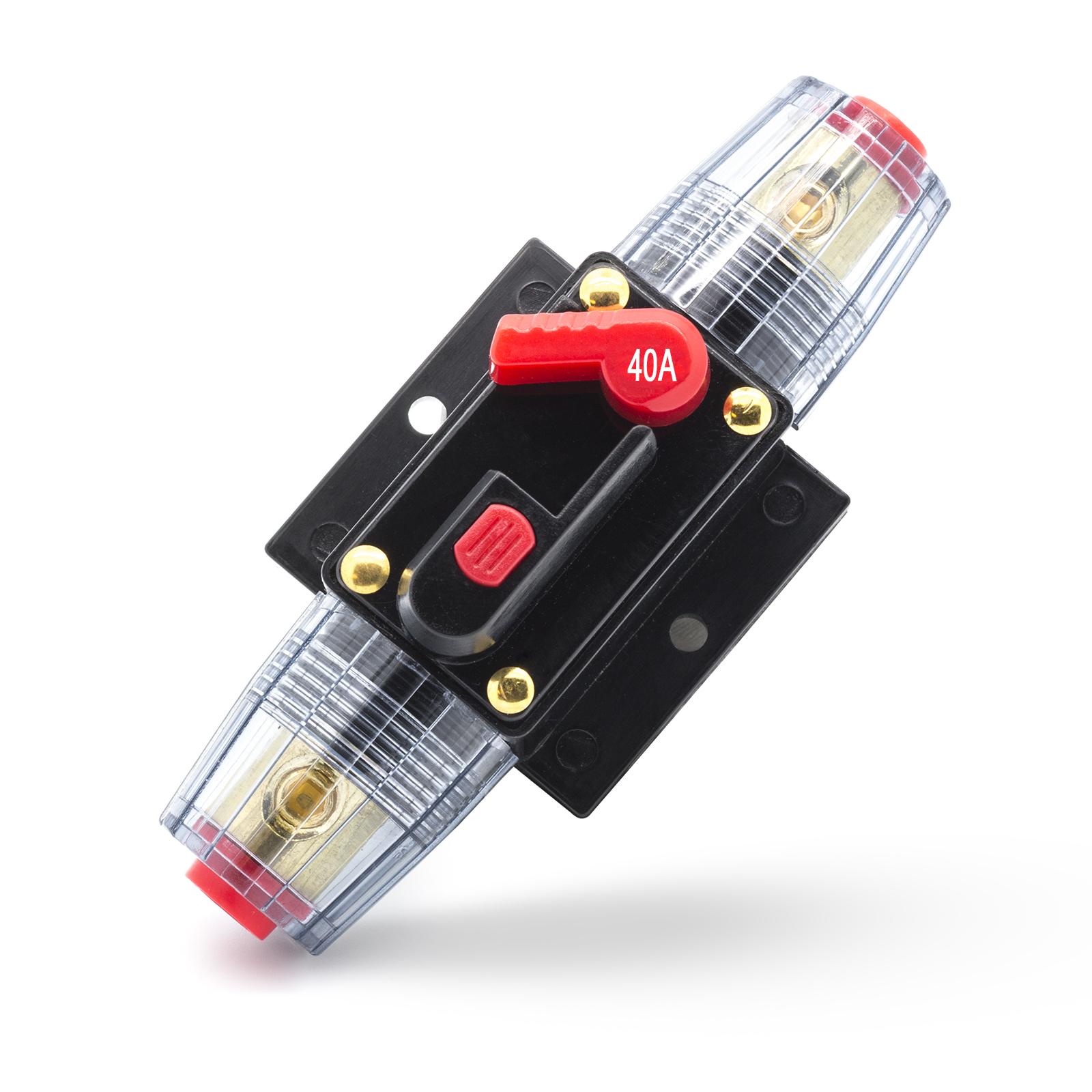 40a 100a kfz sicherung automat halter sicherungsautomat sicherungshalter 12v 24v lautsprecher. Black Bedroom Furniture Sets. Home Design Ideas