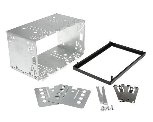 Doppel DIN ISO 100mm Auto Radio Blende Halterung Schacht Rahmen universal Metall