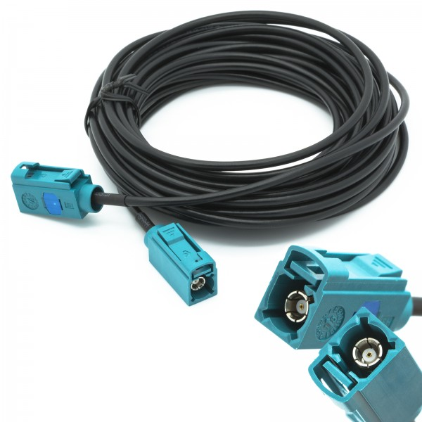 KFZ Auto Antenne Verlängerung Adapter FAKRA Buchse Antennenkabel Kabel 6m