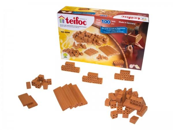 Teifoc Bausteine gemischt TEI 4090 104 Teile Ergänzungsset für Steinbaukasten