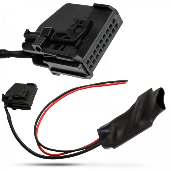 KFZ Radio Bluetooth AUX IN Adapter Kabel 18pol MQS Stecker für Mercedes Benz Comand 2.0 APS