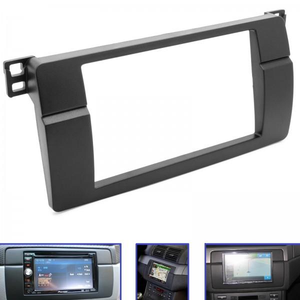 Auto Radio Blende Einbau Rahmen doppel 2 DIN für BMW 3er ( E46 ) KFZ PKW