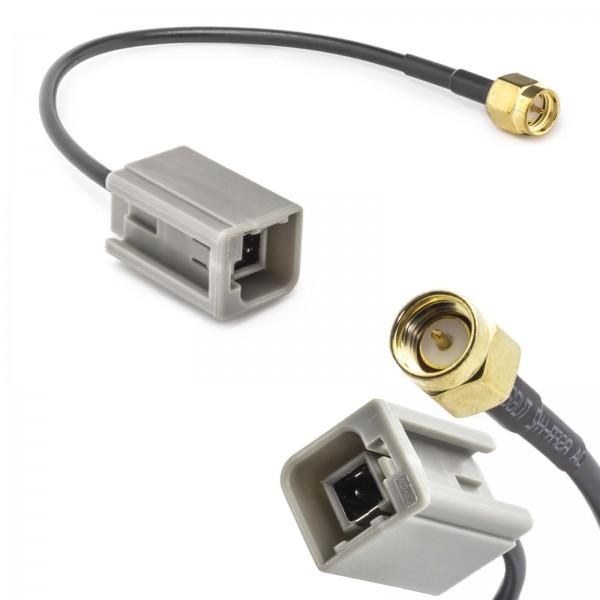 Auto KFZ Antennen Adapter GT5 (M) Stecker auf SMA (M) Stecker Kabel GSM GPS DAB