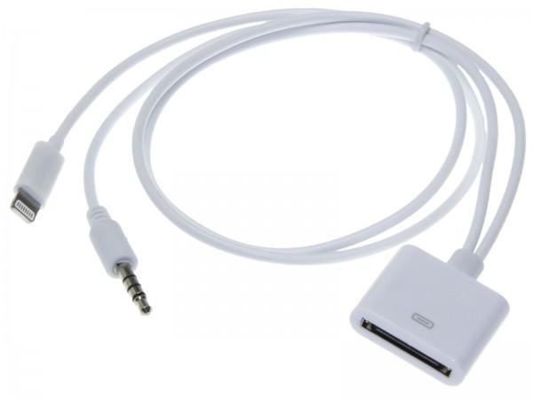 Dock Buchse auf 3,5mm Klinken Stecker AUX Adapter Kabel Audio f iPad Air 2