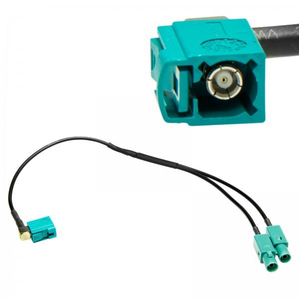 FAKRA Antennenadapter auf Doppel Fakra Splitter Verteiler Antenne Kabel Auto