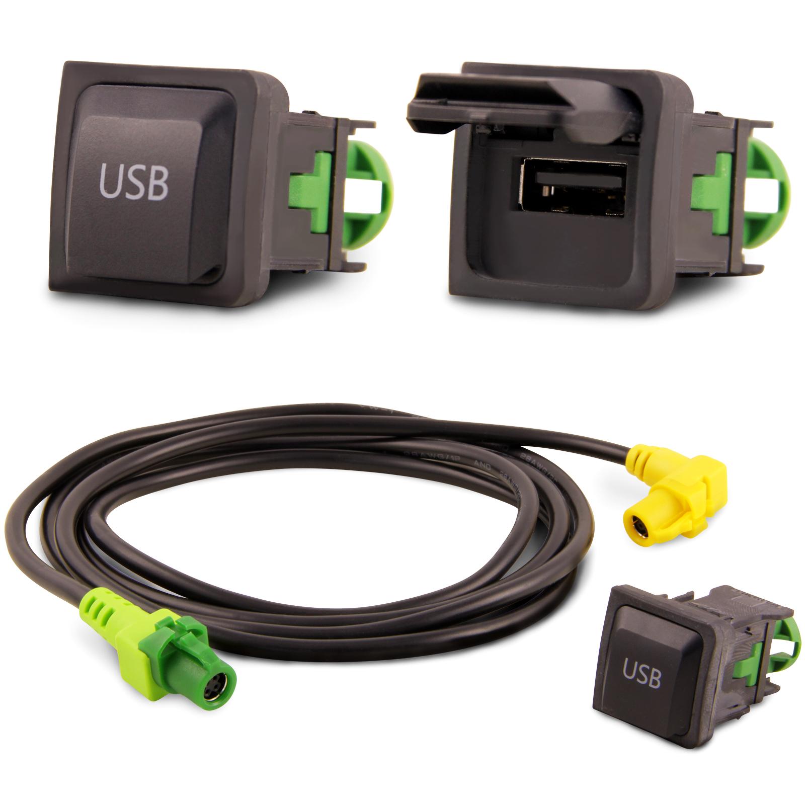 USB Einbau Block Schalter Adapter Kabel Auto Radio für VW RCD510 ...