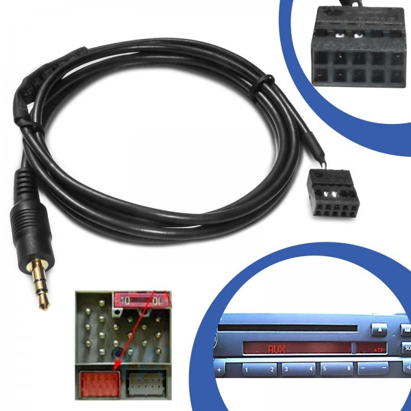AUX Line In Adapter Kabel Klinke für BMW E46 Radio Business / Professional CD