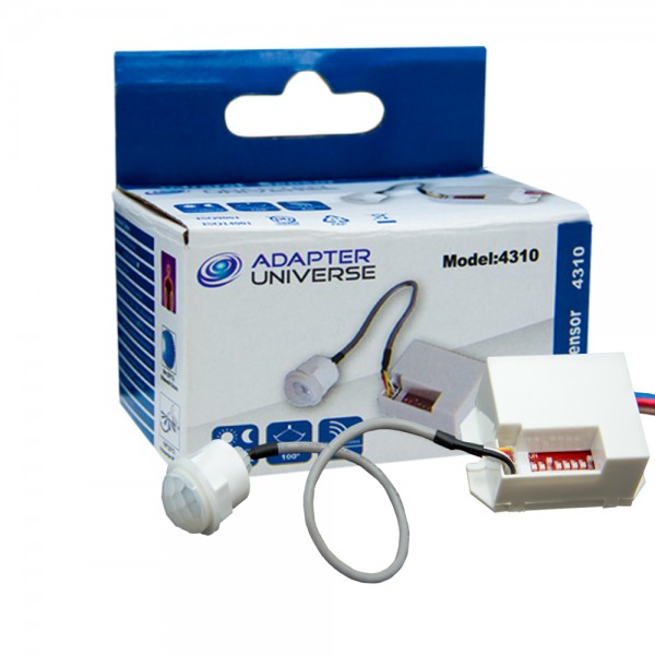 Mini PIR Bewegungsmelder Einbau 230V UP Infrarot 800W LED 360° Sensor Detector
